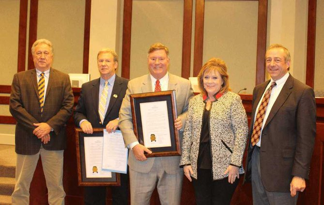 Commissioners-Tam-and-Boff-are-recognized-by-fellow-commissioners-12.15 WEB